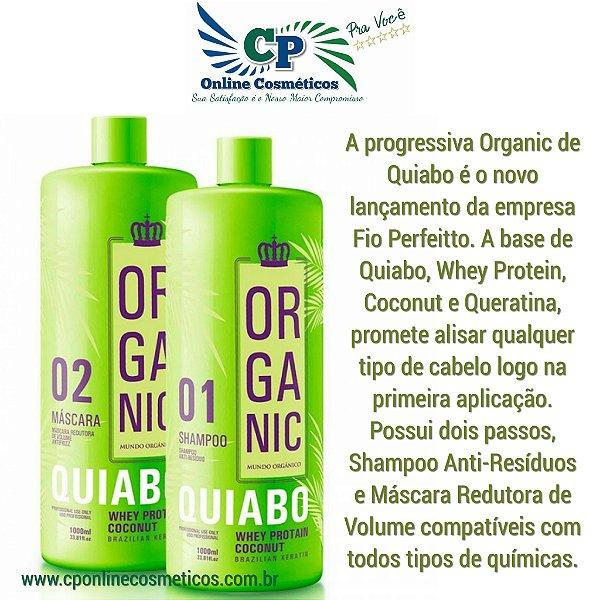 Escova Progressiva De Quiabo Organic 1kg - Fio Perfeitto
