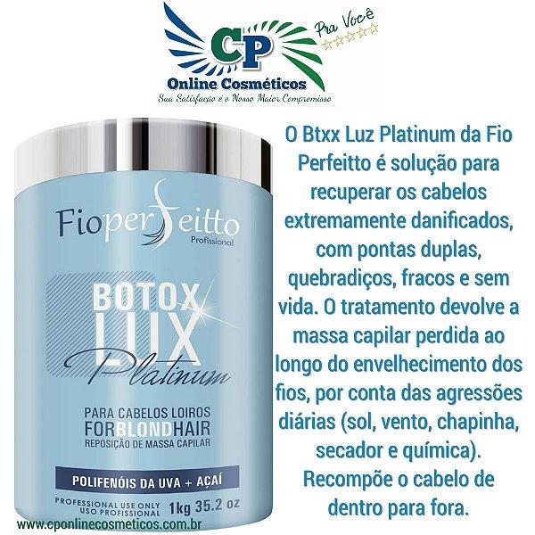Botox Lux Platinum 1kg - Fioperfeito ForBlond Hair Matizador - Profissional