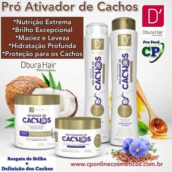 Kit Completo Pró Ativador de Cachos 4 itens - D' Oura Hair