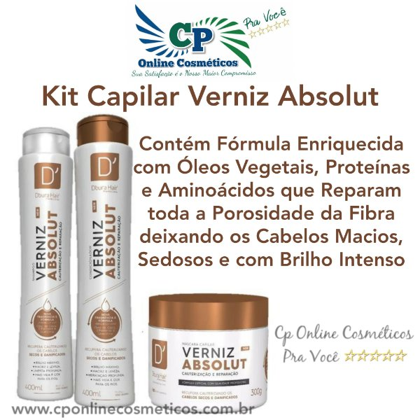 Kit Capilar Verniz Absolut - D'oura Hair