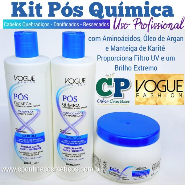 Kit Pós Química - Vogue Fashion