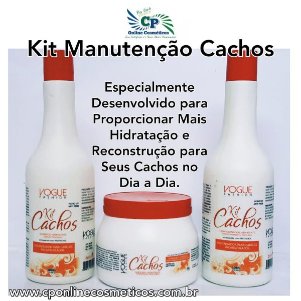 Kit de Manutenção Cachos - Vogue