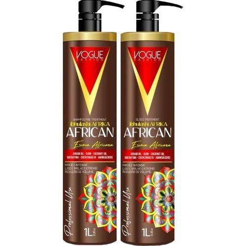 Kit Escova Progressiva African 1L - Vogue Fashion
