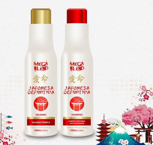 Kit Escova Definitiva Japonesa 1L - Mega Blend - Bálsamo