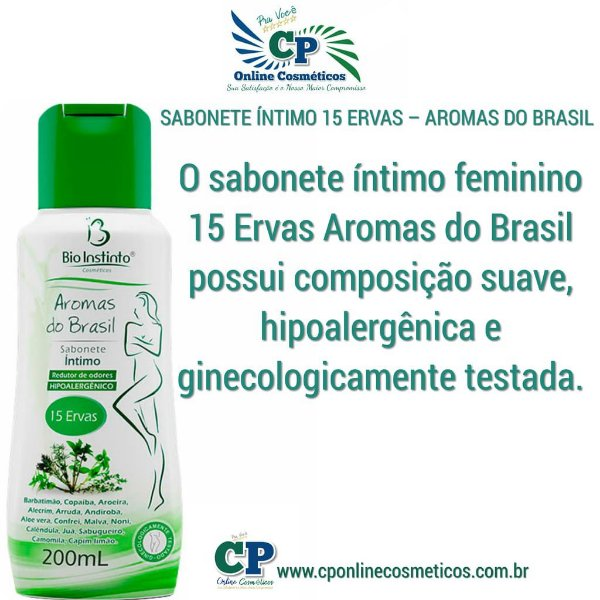 Sabonete Íntimo 15 Ervas 200ml - Bio Instinto