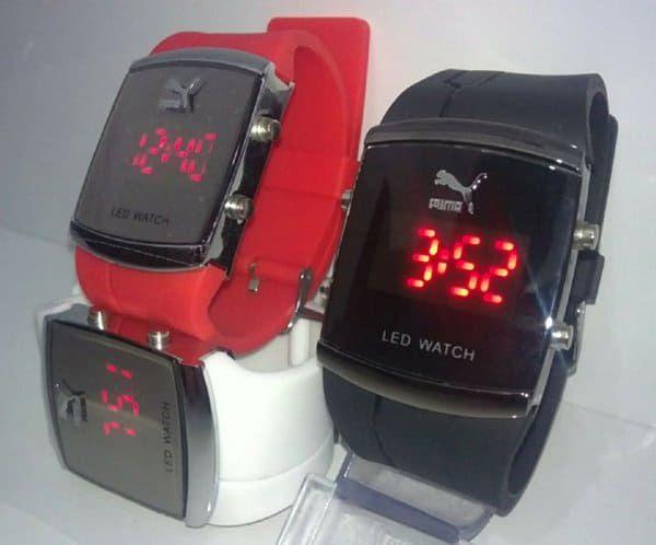 Relógio Unissex Digital Led Watch / Pulseira de Silicone - Puma