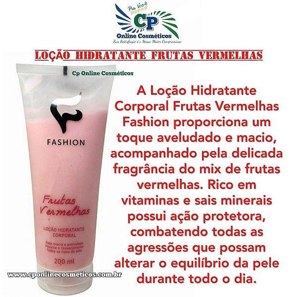 Loção Hidratante Corporal Frutas Vermelhas 200ml - Fashion