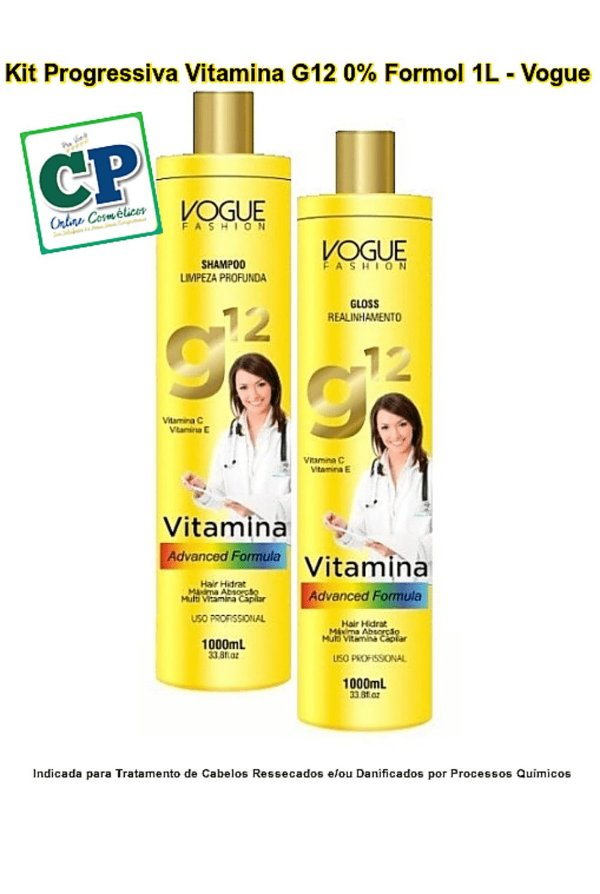 Kit Progressiva Vitamina G12 2x1 L - Vogue
