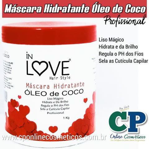 Máscara Hidratante Óleo de Coco 1kg - In Love