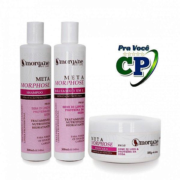Kit Capilar Meta Morphose - Hidratação Profunda - Morgane Bio Care