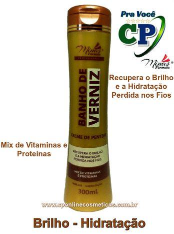 Creme de Pentear Banho de Verniz 300ml - Minas Fórmula