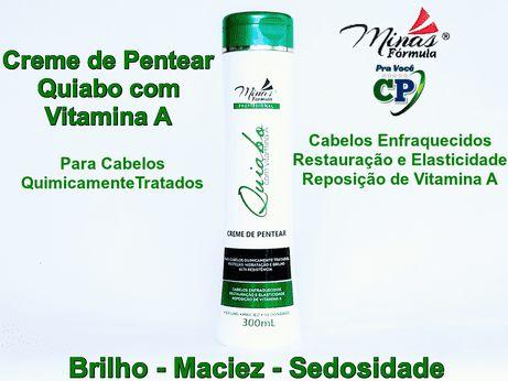 Creme de Pentear Quiabo com Vitamina A - Minas Fórmula