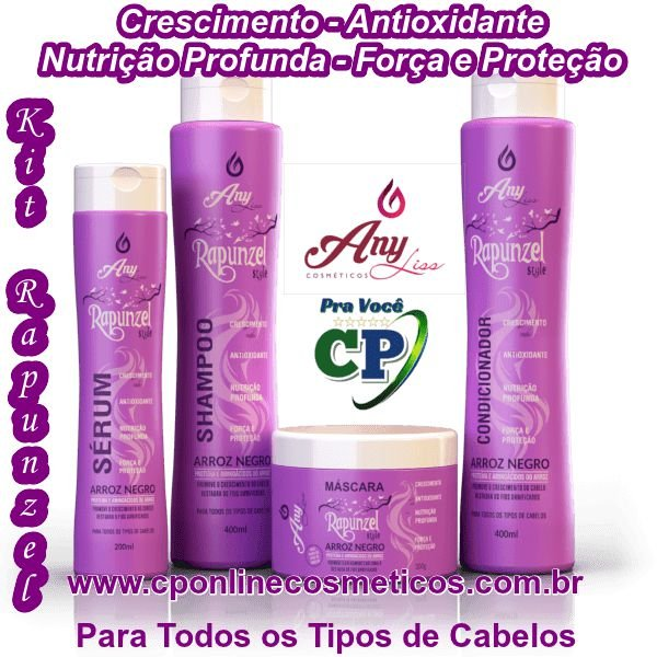 Kit Completo Rapunzel - Any Liss