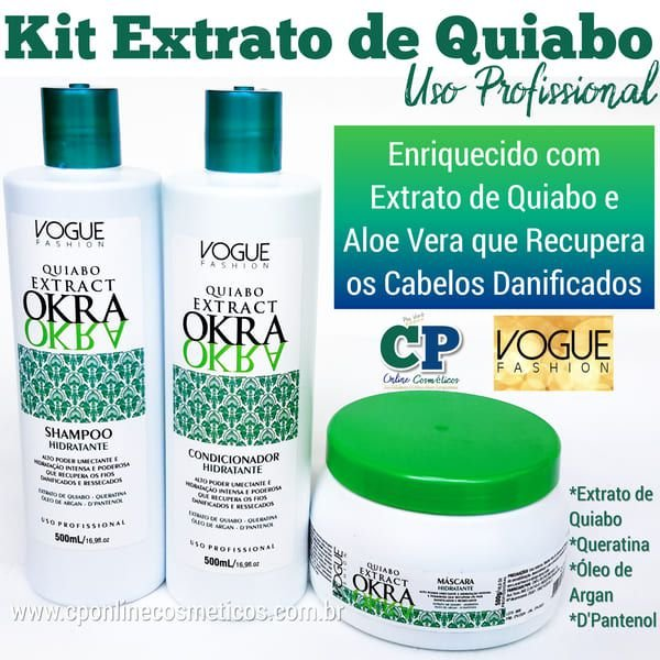 Kit Extrato de Quiabo - Vogue Fashion