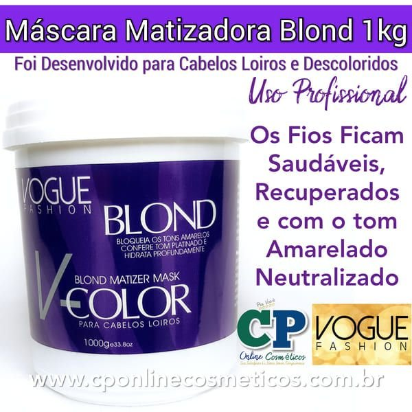 Máscara Matizadora Blond 1kg - Vogue Fashion