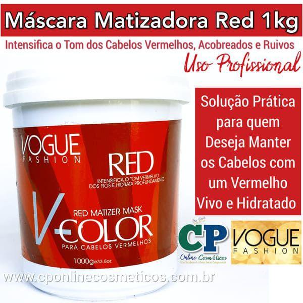 Máscara Matizadora Red 1kg - Vogue Fashion