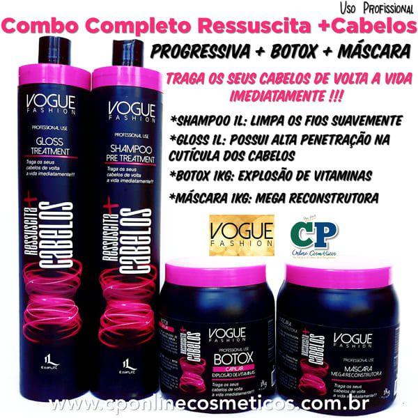 Combo Completo Ressuscita +Cabelos - Vogue Fashion