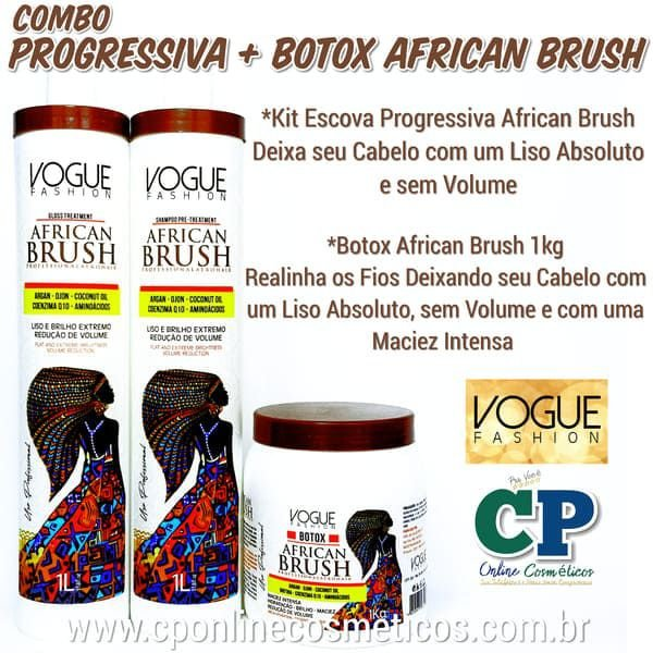 Combo Progressiva + Botox African Brush - Vogue Fashion
