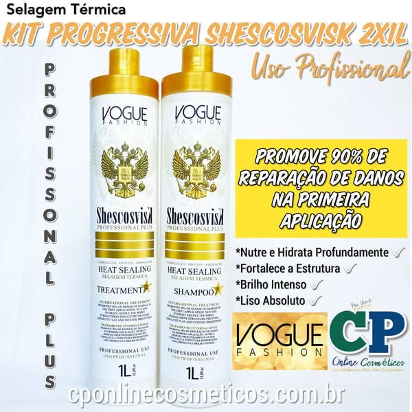 Kit Selagem Térmica Shescosvisk 2x1L - Vogue Fashion