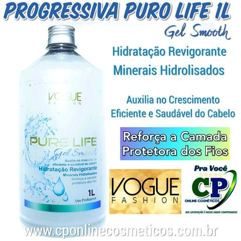 Escova Progressiva Pure Life em Gel 1L - Vogue Fashion