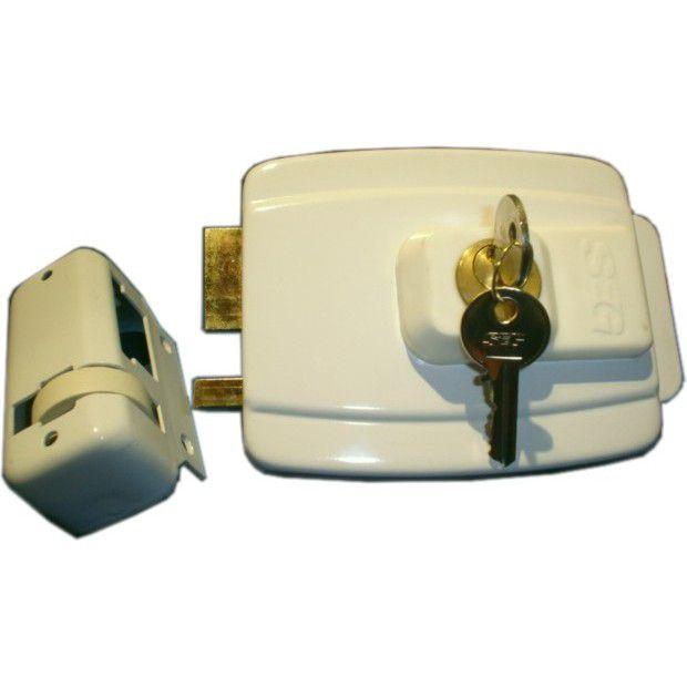 Fechadura Elétrica SEG 12V Cilindro 45mm Branca Temos Outros Cilindro.