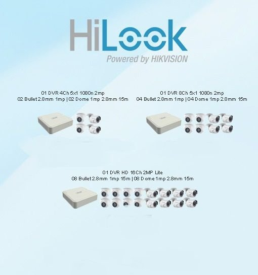 Kit Câmeras Hilook  4 - 8 - 16 Câmeras