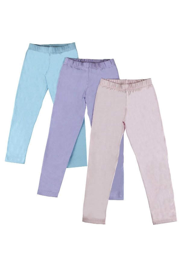 Kit Legging Infantil Menina Básica - Lilás