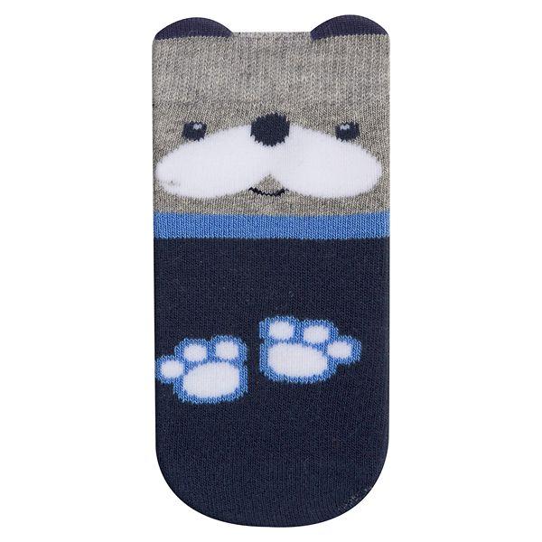 Meia Bebê Infantil Fun Socks Carinho Cachorrinho Cinza Marinho