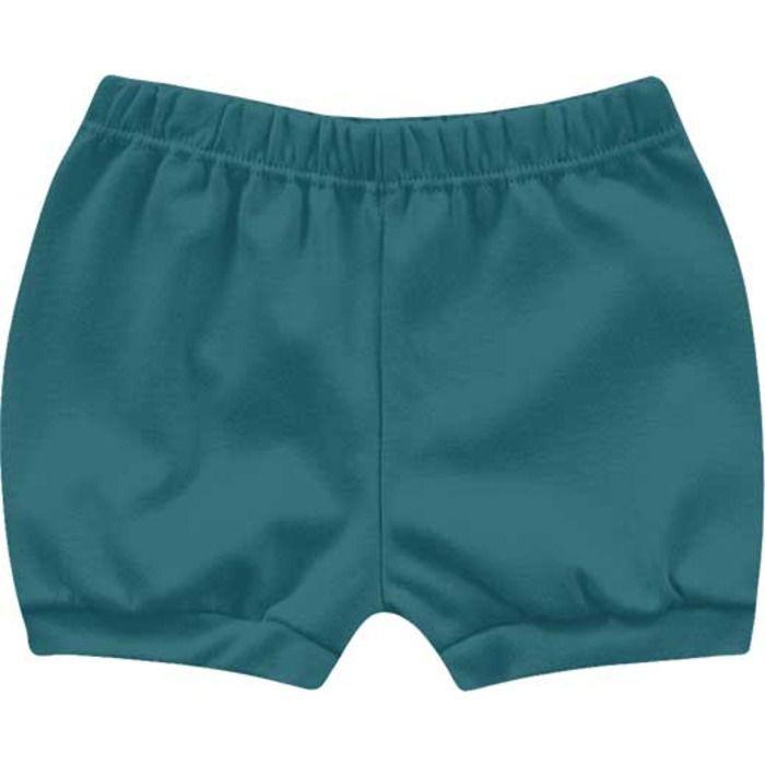 Kit Shorts Cobre Fraldas Bebê Menino Dino Tiger Azul Intenso Kiko Baby