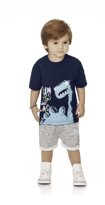 Camiseta Bebê Menino Infantil Dino