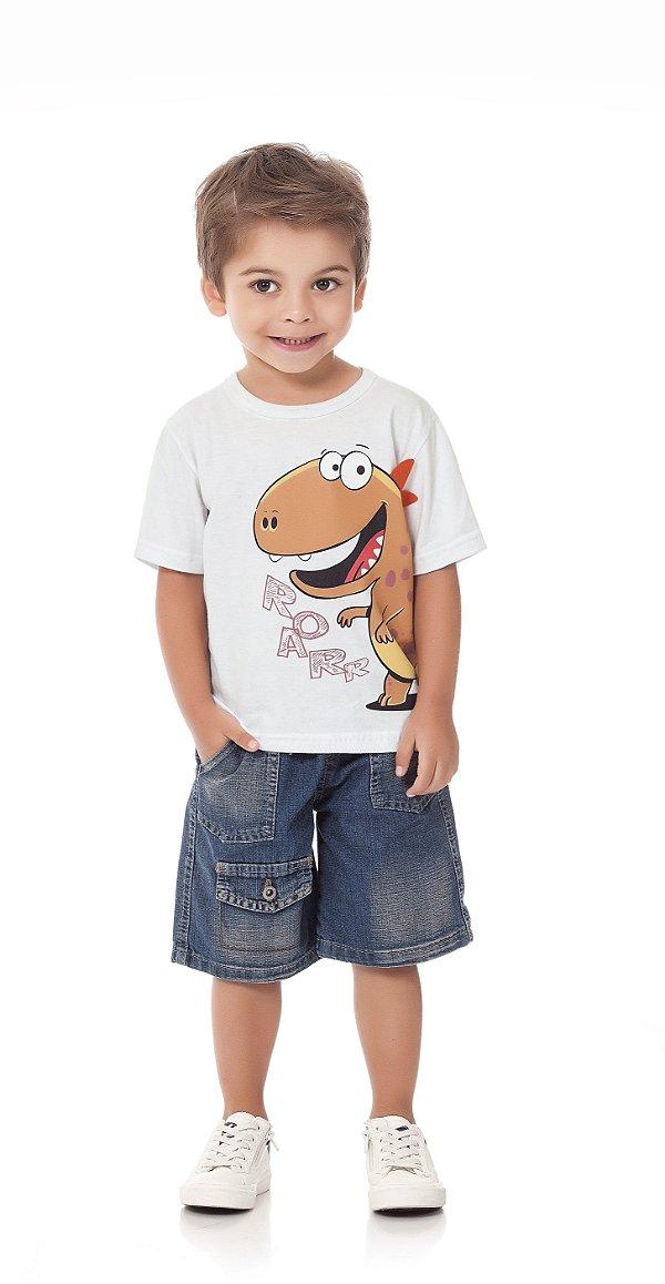 Camiseta Bebê Menino Infantil Roaar
