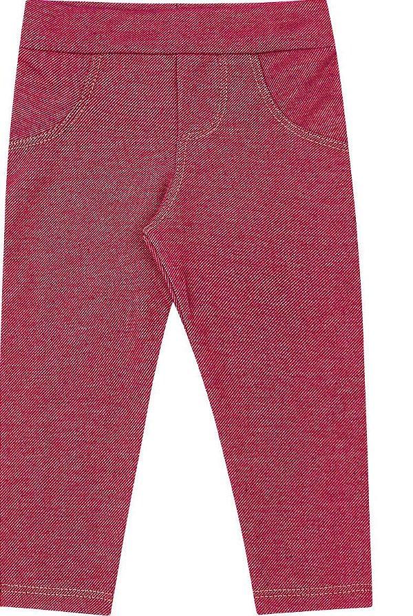 Calça Legging Menina Estampa Jeans Kiko e Kika