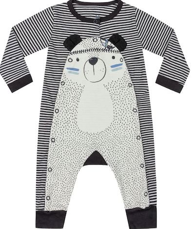 Macacão Bebê Longo Ursinho Cabana Kiko Baby