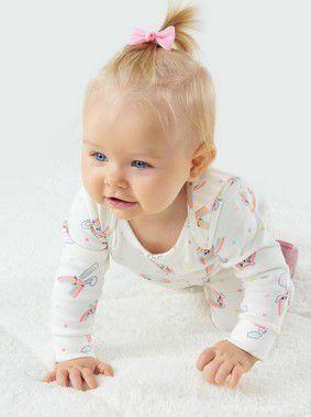 Macacão Bebê Longo Coelhinho Arco Íris