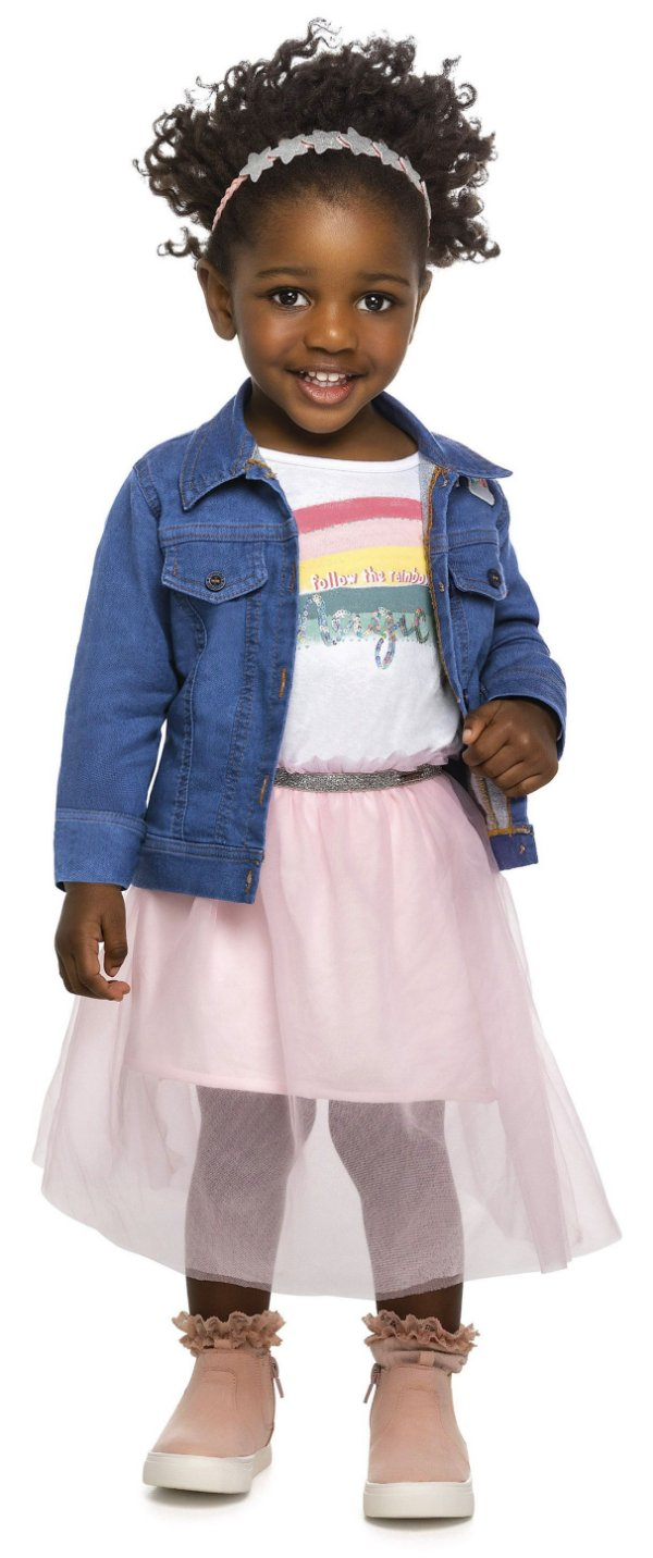 Jaqueta Jeans Infantil Molecotton Arco Íris Colorittá