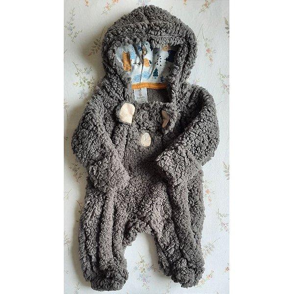 Macacão Bebê Longo Pêlos Fluffy Floresta Encantada Kiko Baby