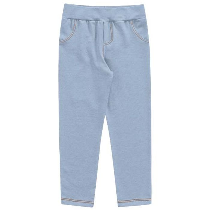 Calça Legging Molecotton Infantil Menina Jeans Claro Kiko e