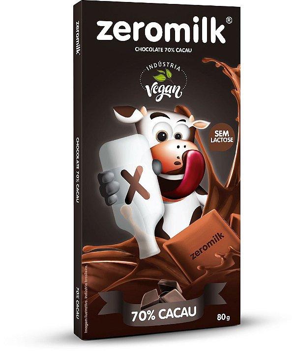Tablete ZEROMILK PURO 70% 80g