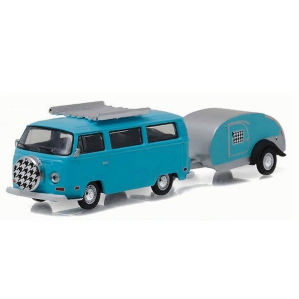 Volkswagen Kombi Type 2 1972 e Trailer 1/64 Greenlight