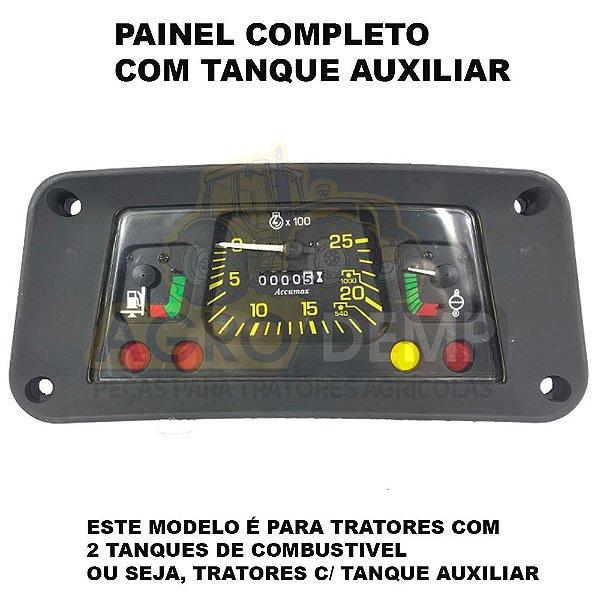 PAINEL COMPLETO DE INSTRUMENTOS (PARA TRATORES COM TANQUE AUXILIAR - TRATOR COM 2 TANQUES - TACOMETRO MECANICO ROSQUEAR C/ HORIMETRO) - FORD 4600 / 4610 / 5600 / 5610 / 6600 / 6610 - E7NN10849DA