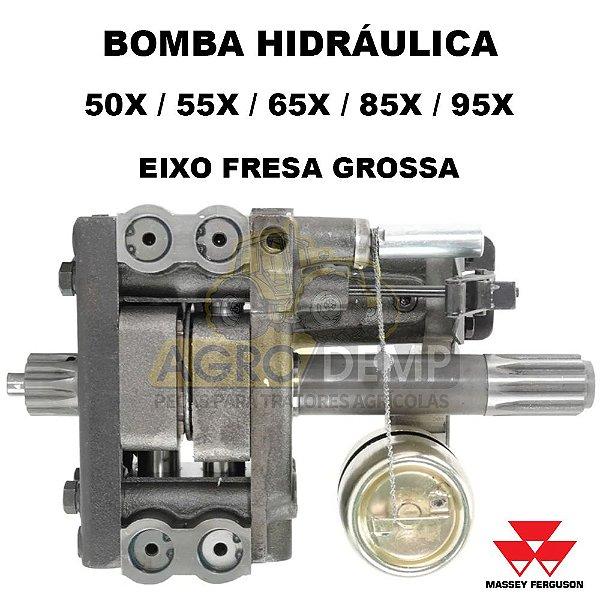 BOMBA HIDRÁULICA (FRESA GROSSA - INDISA) MASSEY FERGUSON ANTIGOS 50X / 55X / 65X / 85X / 95X - 184472