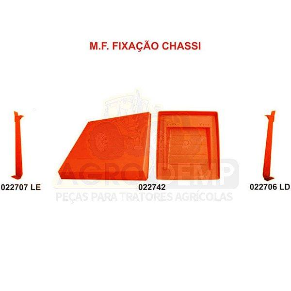 KIT TOLDO / CAPOTA  FIXAÇÃO NO CHASSI C/ PARAFUSOS (COLUNA ALTA 1,40m) MASSEY FERGUSON 292 A 299 ANTIGO - 022706 / 022707 / 022742