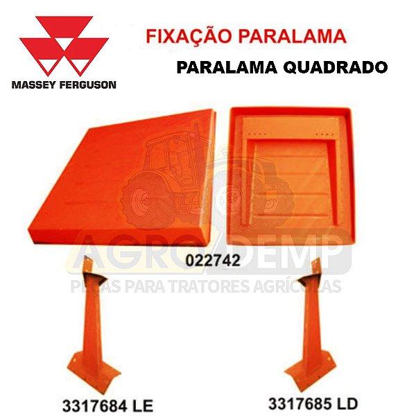 KIT TOLDO / CAPOTA  FIXAÇÃO NO PARA-LAMA (COLUNA BAIXA, PARA-LAMA QUADRADO) MASSEY FERGUSON - 3317684 / 3317685 / 022742