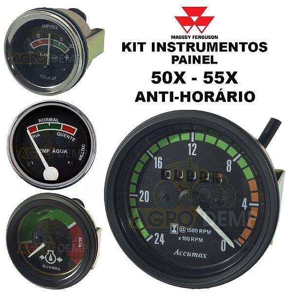 KIT RELÓGIOS INSTRUMENTOS DO PAINEL (HORÍMETRO ANTI-HORÁRIO) IMPORTADO TRATOR MASSEY FERGUSON 50X / 55X - 1481549
