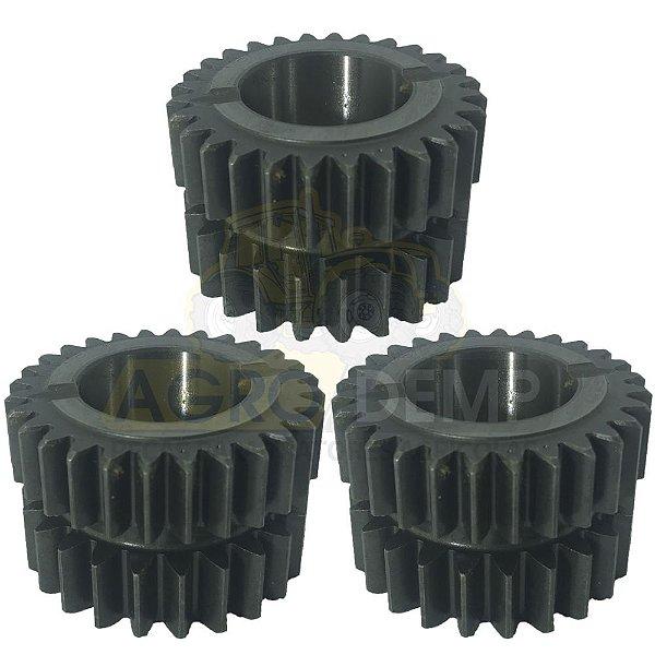 KIT COM 3 ENGRENAGENS DO REDUTOR CREEPER VALTRA BM85 / BM100 / BM110 / BM120 (GII) - 86332600