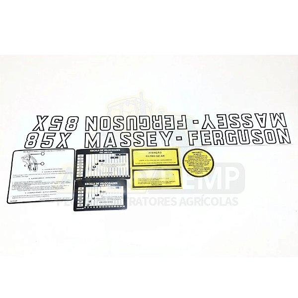 DECALQUE KIT FAIXA JOGO DE ADESIVOS MASSEY FERGUSON - 85X