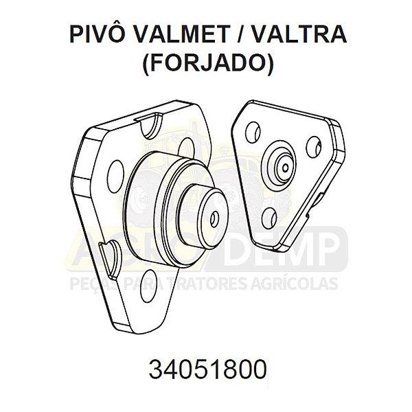 PIVÔ PRINCIPAL (FORJADO) - VALTRA / VALMET BH140 / BH160 / BH180 / BM85 E BM100 / 1280R / 1580 E 1780 (GERAÇÃO DE BH 1 E HI) - 34051800