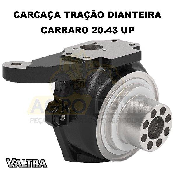 CARCAÇA DE ARTICULAÇÃO MANGA DE EIXO DIANTEIRO (LADO ESQUERDO - CARRARO 20.43 UP) - VALTRA BH140 / BH160 / BH180 -  BM85 / BM100 - 1280R / 1580 / 1780 (GERAÇÕES 1 E HI) - 81880300