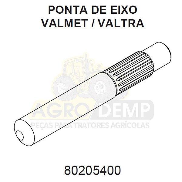 EIXO INTERNO EMBREAGEM (184 CM / 24,4MM DIAMETRO EXTERNO / 18 DENTES ESTRIAS) - VALTRA / VALMET 880 / 980 / BM110 / BM120 E BM125 - 80205400