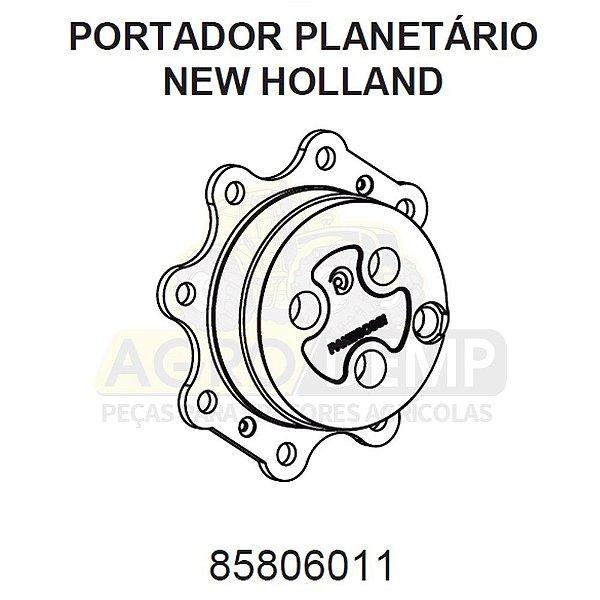 CAIXA PORTADORA PLANETÁRIO DO EIXO DIANTEIRO TRAÇÃO 4X4 (RETRO-ESCAVADEIRA) - FORD / NEW HOLLAND LB90 / LB110 / FB80 - 85806011